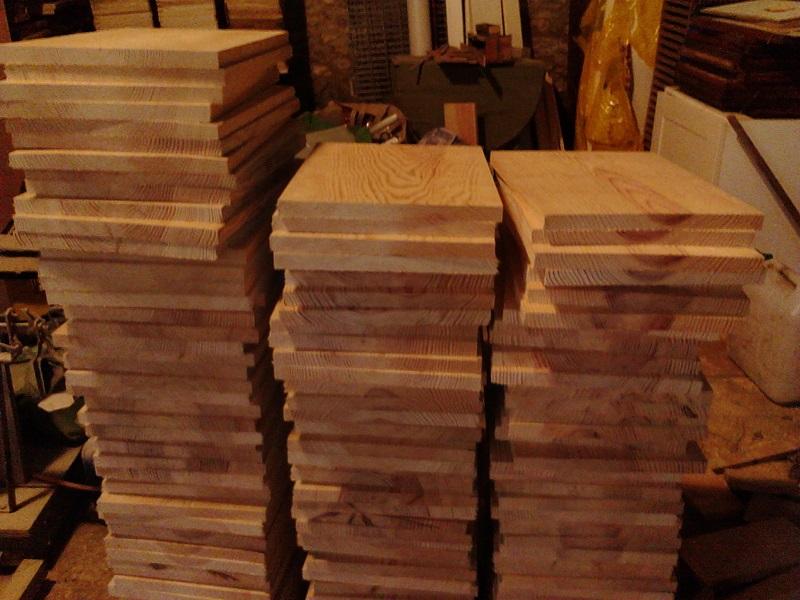 Découpe de planches pour ruches